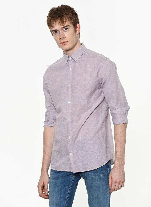Jack & Jones Uzun Kollu Gömlek Lila